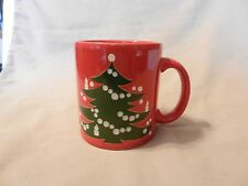 Red Ceramic with Green Christmas Tree Coffee Cup from Waechtersbach
