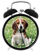 Cute Beagle Dog Alarm Desk Clock Home or Office Decor F74 Nice Gift