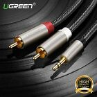 UGREEN Aux Audio 3.5mm Stereo Male to 2 RCA Y Cable Fr IPOD MP3 Iphone 6FT 10FT