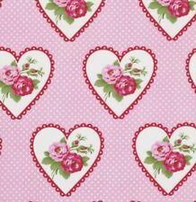 Cottage Shabby Chic Valentine Rose Dottie Valentine Fabric PWTW082-Pink BTY