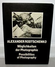 Alexander Rodtschenko Possibilities of Photography Moglichkeiten Photographie HC