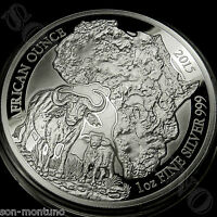 2015 Rwanda CAPE BUFFALO PROOF 1oz Silver African Wildlife Coin ONLY 1000 MINTED