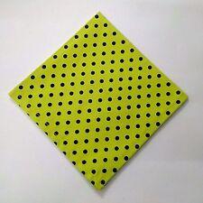 "POLKA DOT Men Women Unisex Pocket Square Handkerchief Hanky - 100% Cotton - 10"""
