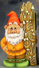"""Welcome Gnome 16 1/2"""" x 8 1/2"""" Ceramic Bisque, Ready To Paint"""