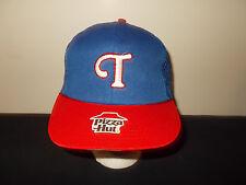 VTG-1980s Pizza Hut Texas Rangers SGA mesh MLB snapback hat sku33