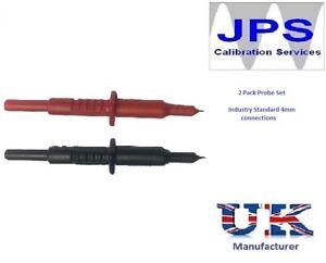 Red Black 2 Pack Insulated Probe Set 1000V Multimeter Clampmeter Megger JPSS179