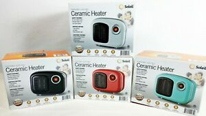 Soleil Personal Ceramic Space Heater Under Desk - Small Spaces Choose Your Color