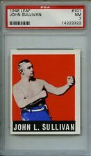 1948 Leaf Gum Co John Sullivan #101 Boxing Card PSA EX-MT 7