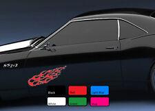 2 x flamme 113 incendie autocollant voiture sport drift tuning vinyle jdm wv autocollant art racing