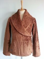 3995 Patagonia Women's Plush Wrap up Sweater Jacket Fleece Top Brown XS