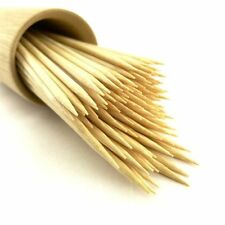 """150 X 10"""" Bamboo Wooden Skewers Sticks BBQ Grill Kebab Fruit Chocolate Fountain"""
