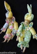 Lot of 2 Sugar Loaf ACM1 Classiques Porcelain Doll bean Jester Clown Harlequin
