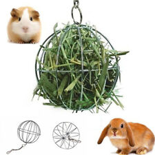 Stainless Steel Round Sphere Food Feed Dispenser Rabbit Pet Hanging Ball Toys JR