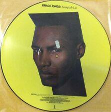 "Grace Jones Living My Life 12"" Single Picture Disc Island UK Press 1982 N/Mint"