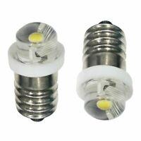 2X E10 LED Upgrade Bulb 0.5W Emergency Light Bulbs Indicator Light 3V 4.5V 6V