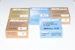 9 x Nikon Focusing Screen  Mint Box