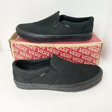 Vans Slip On Sneakers - Classic Shoes - All Black - Mens Size 11