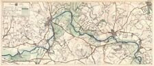 Thames Valley. Sonning-Wargrave-Henley-Marlow - Cookham 1929 Mapa Antiguo