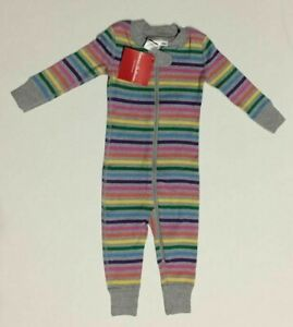 Hanna Andersson baby girl boy stripe coverall sleepsuit 0 3  6 9 12 18 m gray