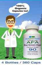 Organic Stem Cell Enhancer Alga Verde Azul 360 cap Klamath Lake Blue Green Algae