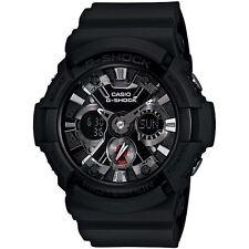 Casio G-Shock GA-201-1AER Dual Black Mens Chronograph World Time Alarm Watch New
