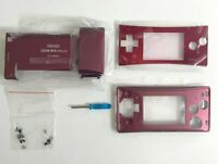 Replacement Housing for Nintendo Gameboy Micro Shell Faceplate Screen Red Tool