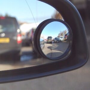 """mirror Blind spot wide angle round Towing Driving 2"""" easy fit  Bike Car Van x1"""