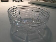 """TIFFANY AND CO RARE Royal Brierley 8"""" Centerpiece Crystal bowl """"SWAG"""" Pattern"""