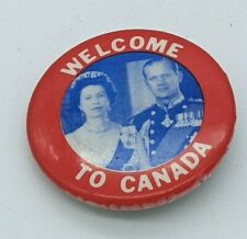 1953 Welcome to Canada Button Commonwealth Royal Tour The Queen Elizabeth II