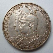 Kaiserreich 2 Mark 1901 Friedrich I. und Wilhelm II. 200 Jahre Preußen Silber