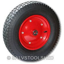 "16"" Rubber Wheel Barrow Tyre Tire 25mm Centre Bore Pneumatic"