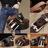 Classic Men's Leather Belt Casual Pin Buckle Waist Belt Waistband Belts Strap