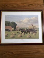 HAYMAKING By Robin Wheeldon Hand Signed Limited Edition Print Framed 249/750