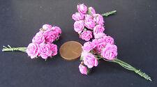 1:12 scala 3 I (30 FIORI) DI CARTA ROSA ROSE DOLLS HOUSE miniatura F