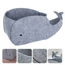 1 Pc Home Children Toys Container Felt Whale Shape Sundries Storage Basket