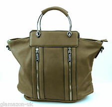 Ladies Designer Handbag Leather Style Celebrity Tote Bag Shoulder Satchel