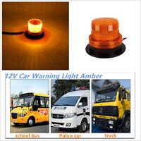 24LED Auto Car Warning LAMP Amber Flashing Strobe Beacon Emergency Light 12V 24V