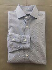 Z-ZEGNA Drop 8 Slim Fit Mens Geometric Pattern Shirt 39 15.5 34 $295