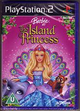 PS2 Barbie como la princesa de la isla (2007), Reino Unido PAL, nuevo y sellado de fábrica Sony
