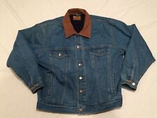 REDHEAD Blue Denim Button Front Trucker Jean Jacket Men's Size Large