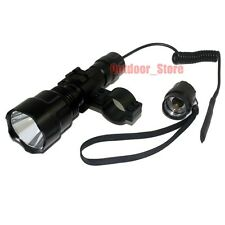 Ultrafire C8 Tactical CREE XM-L L2 LED 1200LM Flashlight + Mount Pressure Switch