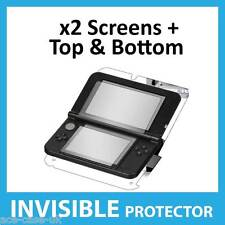 Nintendo 3DS XL Full Body INVISIBLE Screen Protector Shields & Front & Back