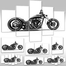 Leinwandbild Canvas Wandbilder Kunstdruck Keilrahmen Motorrad Chopper Harley