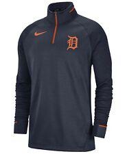 NIKE MLB Men's Detroit Tigers Zip Jacket Pullover Sweatshirt Dri 2XL XXL NEW $80
