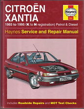 Citroen Xantia 1993-1995 Petrol & Diesel models Haynes Service & Repair Manual