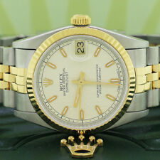 Rolex Datejust Midsize 2-Tone Original Cream Jubilee Dial 31MM 68273