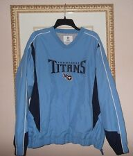 Mens NFL TENNESEE TITANS Football pull over track jacket sz. L jersey FREESHIPP