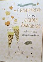 GRANDPARENTS GOLDEN ANNIVERSARY CARD QUALITY CARD MODERN DESIGN LOVELY VERSE