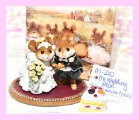❤️Wee Forest Folk M-200 The Wedding Pair Yellow Roses Groom Bride Black Tux❤️