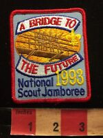 1993 National Scout Jamboree BRIDGE TO THE FUTURE Boy Scouts Patch 85N4